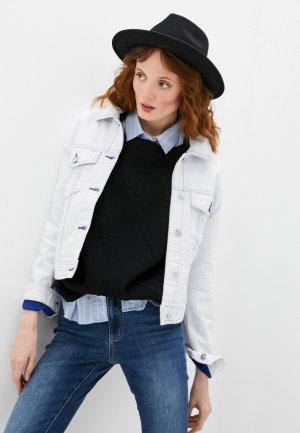 Куртка джинсовая Armani Exchange. Цвет: белый