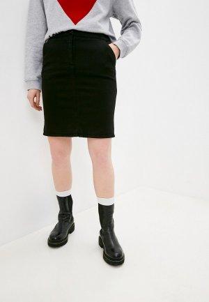 Юбка джинсовая Love Moschino. Цвет: черный