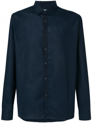 Рубашка с текстурной планкой Mauro Grifoni. Цвет: синий