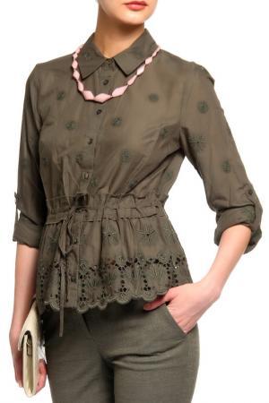 Блуза Diane von Furstenberg. Цвет: хаки