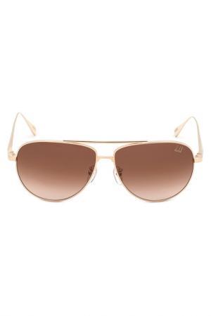 Солнцезащитные очки DUNHILL. Цвет: золотой