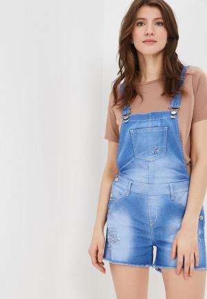 Комбинезон джинсовый Met. Цвет: голубой
