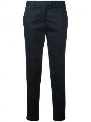Укороченные брюки-чинос Alberto Biani. Цвет: синий